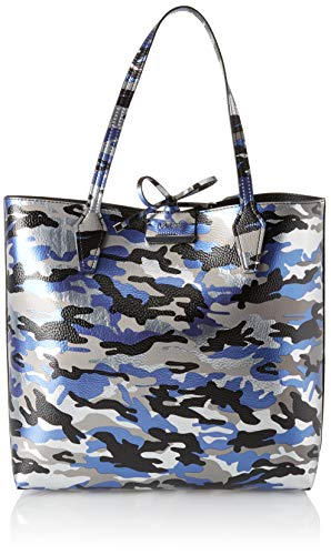 Guess Damen Bobbi Tote, Mehrfarbig (Black/Bcb), 42.5x35x12.5 centimeters