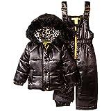 Catherine Malandrino Baby Girls' Satin Leopard Snowsuit (12 Months)