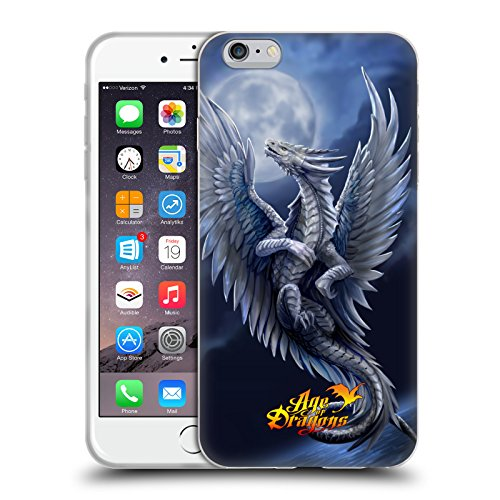 Head Case Designs Oficial Anne Stokes Plata Edad de los Dragones Carcasa de Gel de Silicona Compatible con Apple iPhone 6 Plus/iPhone 6s Plus
