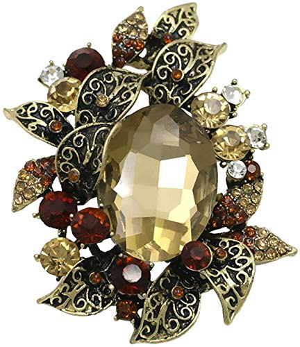 necklace Collar de Moda para Mujer Estilo Vintage broches de Diamantes de imitación de Cristal y Grandes instalaciones Piedra acrílica Broche for la Mujer Izar