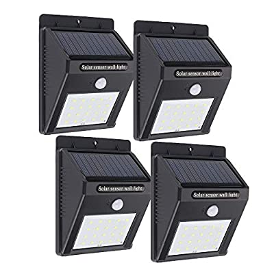 Solar Lights Outdoor, Patio Deck Lights 36 LEDs, Super Bright Outside Waterproof Motion Sensor Lights, Solar Powered Lighting for Yard, Backyard, Pathway & Driveway