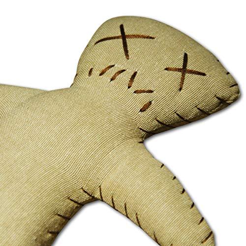 Splat Doll raw - Voodoo Puppe mit Nadel und Ritual-Anleitung