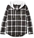 Oakley Icon Hooded, 100 Percent Cotton Hoodie - Flannel Shirt for Men, Button-Up Hoodie