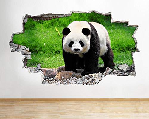 Pegatinas de pared Panda Bamboo Animal Zoo Niños Niñas Dormitorio Calcomanía de pared 3D Art Stickers