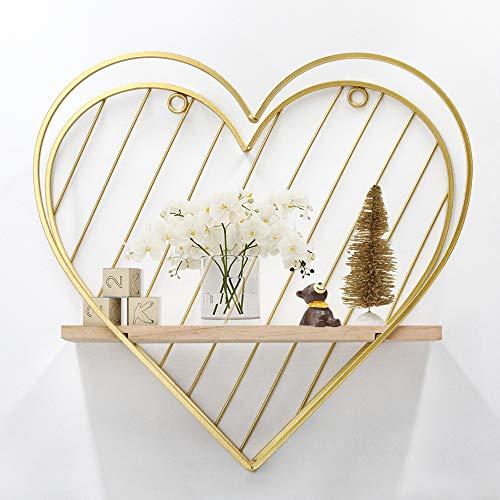 Afuly - Estante, diseño de corazón, color dorado