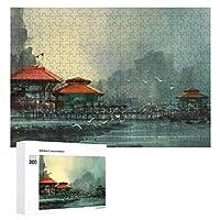 美しい港の風景 300ピースのパズル木製パズル大人の贈り物子供の誕生日プレゼント