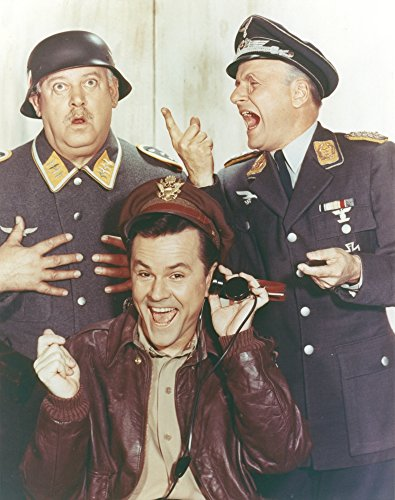 Posterazzi Hogan's Heroes Man in Leather Jacket with Two Men in Army Suit Photo Poster Print, (24 x 30)