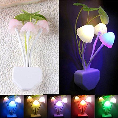 Gaddrt Romantic Colorful Silicone Sensor LED Mushroom Night Light Wall Lamp Home Decor Gift