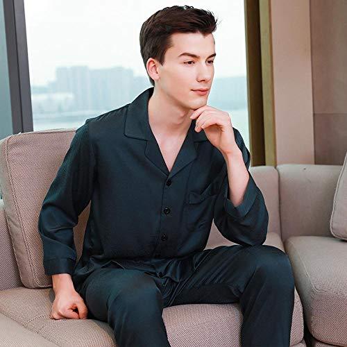 SleepWears Badjas voor heren, dun, van Koreaanse zijde, voor zomer, lente en herfst, meerdere maten