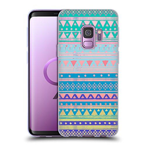 Official Nika Martinez Boho Chic Native Bandana Tribal Prints Soft Gel Case Compatible for Samsung Galaxy S9