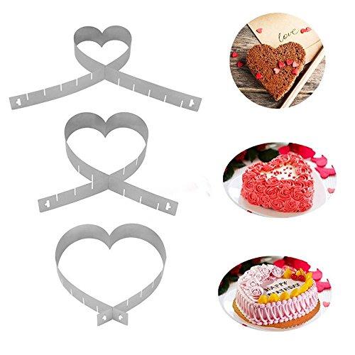 VWH Amour Fondant Gâteau de Décoration De Gâteau Outils l'acier Inoxydable Mold
