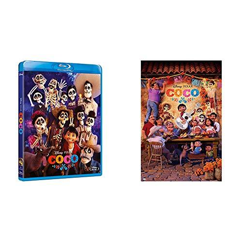 Coco Blu-Ray + Poster con diseño Disney Coco, 61 x 91.5 cm