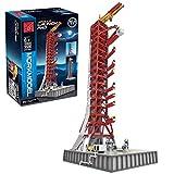 12che DIY Raketenwerfer Modellbausatz Kompatibel mit Lego Idea NASA Apollo Saturn V 21309