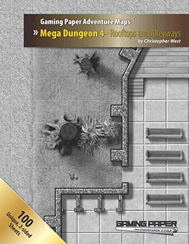 Gaming Paper Rooftops and Alleyways Mega Dungeon 4 Adventure Maps