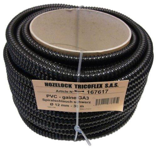 Tricoflex 01112000 Teichschlauch, leicht PVC schwarz 12 mm innen 30 m Rolle