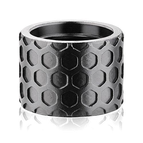 Backup Tactical 1/2X28 Honeycomb Thread Protector, Black