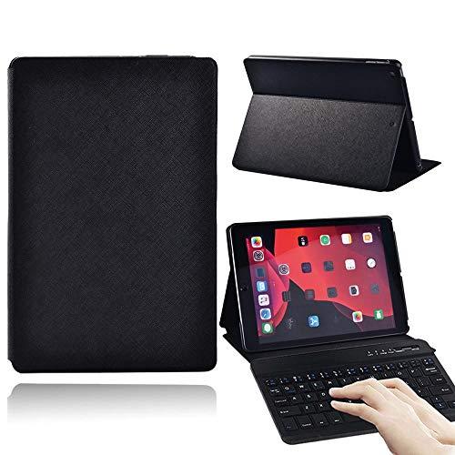 Bluetooth keyboard case For Ap Ipad (2019 7th Gen/2020 8th Gen) 10.2 Waterproof Black Tablet Case Pu Leather Stand Cover Case + Bluetooth Keyboard wireless keyboard ( Color : IPad (2020) 8th Gen )