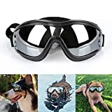 Large Dog Sunglasses Dog Goggles UV Protection Windproof Anti-breaking Goggles Pet Eye Wear Dog Swimming Skating Glasses Adjustable