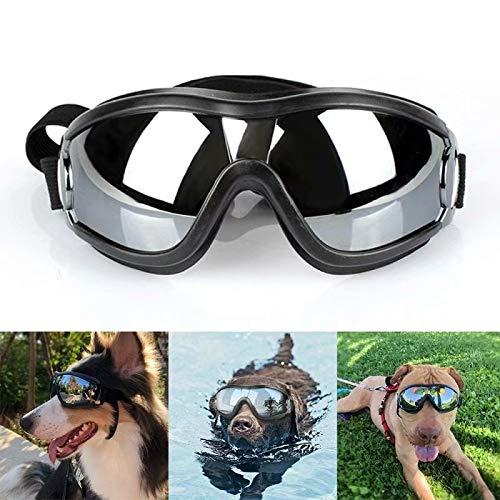 Gafas de sol grandes para perro con protección UV, resistentes al viento, antiroturas, para perros, gafas de natación y patinaje ajustables