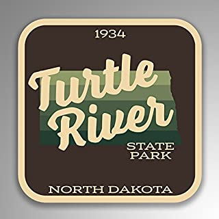 JMM Industries Turtle River State Park North Dakota Vinyl Decal Sticker Retro Vintage Look 2-Pack 4-inches by 4-inches Premium Quality UV Protective Laminate SPS063