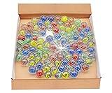 ARSUK Cat'S Eye Color Glass Marble Runs, Viene en una Bolsa, protección contra daños, Juguetes Deportivos y Juegos al Aire Libre (100 Piezas de mármol de Color)