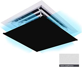 Deflector de viento de aire acondicionado Central Rectangular, Que Protege la Salud de la Familia, Ligero y fácil de almacenar - 60 × 60 cm (Color : Black, Size : 60cm×60cm)