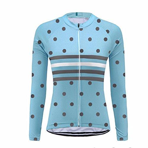 Uglyfrog HHWLW03 Neue Winter Fleece Warm Fahrradtrikot Langarm Shirt Damen Thermo Radfahren Fahrrad Klassisches Design Fahrrad Hemd Damen Fahrradbekleidung Geschenke für die Lady