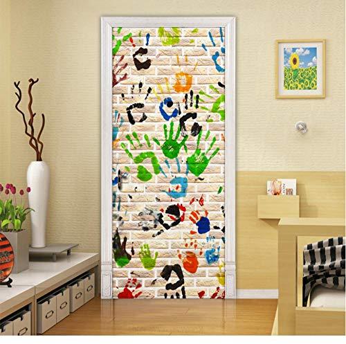 Home Decoration Decal Abstraktes Poster 3D Tür Aufkleber Graffiti Handabdruck Kunst Bild Wasserdichte Tapete Für Kinderzimmer Bild