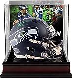 Russell Wilson Seattle Seahawks Autographed Riddell Speed Mini Helmet with Deluxe Mini Helmet Case - Autographed NFL Mini Helmets