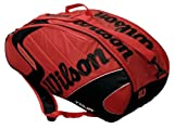 Wilson Tasche Tour Six Racket Thermal, red/Black