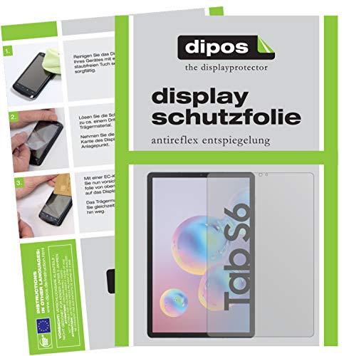 dipos I 2X Schutzfolie matt kompatibel mit Samsung Galaxy Tab S6 Folie Displayschutzfolie