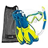 Phantom Aquatics Speed Sport Junior Mask Fin Snorkel Set, Lime, Small