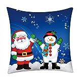 Reooly Christmas Pillow Case Funda de Almohada Bordada Hogar Decoración para el...