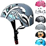 SkullCap® Casco BMX Bici y Casco Skate - Hombres Mujeres Niños y Niños, Design: Grafiti, Talla: M (55 – 58 cm)