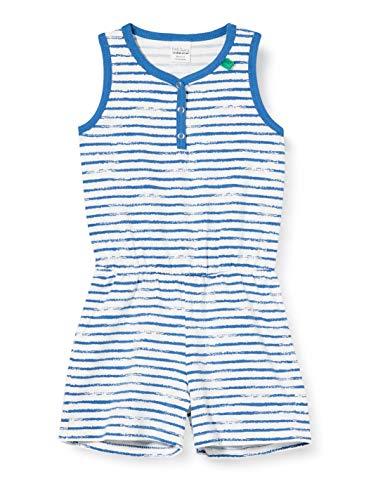 Fred'S World By Green Cotton Ocean Stripe Short Leg Suit Pull, Bleu (Blue 019403901), 98 Bébé Fille