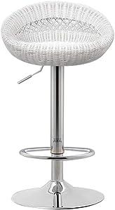 YLCJ Barhocker Imitation Rattan Höhenverstellbar 360 Grad Rotation Gaslift Frühstücksstuhl Küche Hocker Küche Frühstücksbarhocker