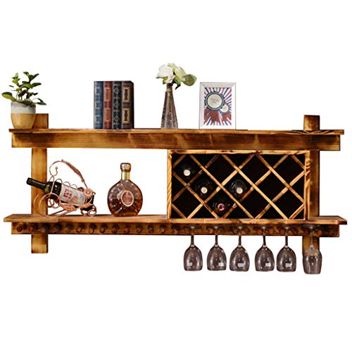 en Bambou Naturel avec 6 Porte-Verres et 1 Porte-Bouteille VANDA /Étag/ère /à vin et Porte-Bouteille Parfait pour Les Amateurs de vin et Les invit/és