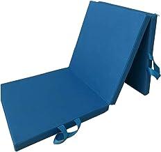 Abaodam Opvouwbare Oefening Vloermat Dance Yoga Gymnastiek Training Mat voor Thuis Judo Pilates Gym 180x60x5cm (Blauw) Spo...