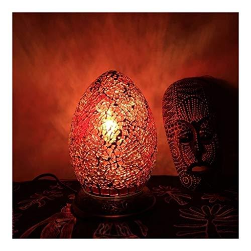 Glas Tischlampe, Schlafzimmer Nachtnachtlicht, bunte Ei-förmige Handgemachtes Mosaik Tischlampe