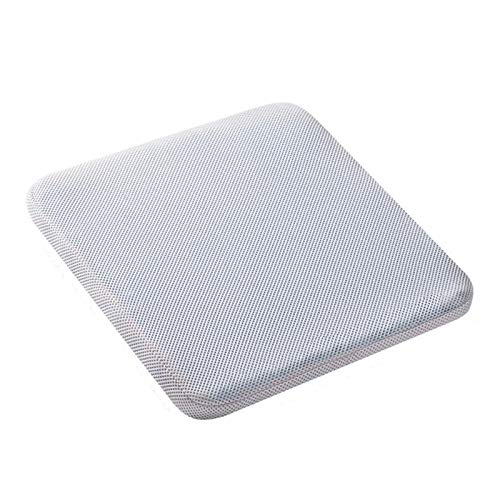 jianchi Elastic Gel Seat Cushion, TPE Silicone Cooling Mat Support Non Slip Summer Ice Pad Chair Car Office Seat Cushion Gel Seat Cushion (Color : White)