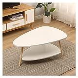 YUEYOULII Small Coffee Table Living Room Sofa Side Table Small Apartment Bedroom Coffee Table Casual Dining Oval Table Table, Side Table (Color : A)