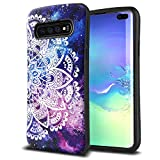 ZUSLAB Face Designed for Samsung Galaxy S10 Plus Case with Soft Rubber Bumper - Nebula Mandala