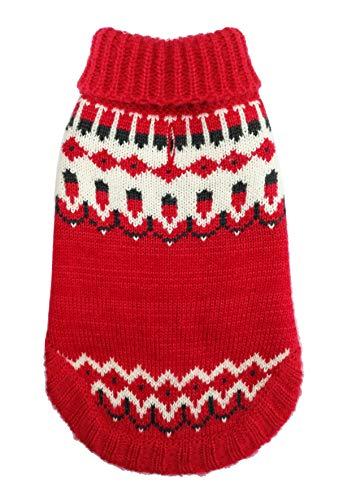 Hip Doggie HD-7ICRD-XL Icelandic Sweater Red XL Hundepullover