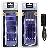 Andis Master Dual Magnet Small 5-Comb Set and A Large 4-Comb Set with a BeauWis Blade Brush