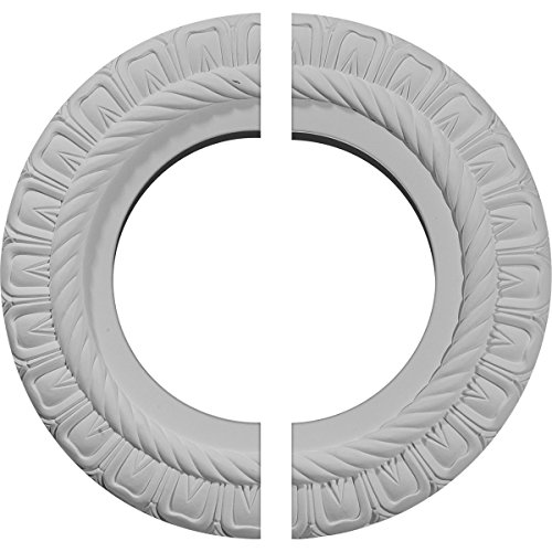 Ekena Millwork CM10CL2 Claremont Ceiling Medallion, 10 5/8'OD x 5 3/4'ID x 1/2'P (Fits Canopies up to 7'), Factory Primed