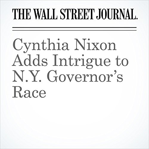 Cynthia Nixon Adds Intrigue to N.Y. Governor's Race copertina