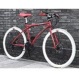 26 pulgadas de bicicletas de montaña Variable Frenos velocidad Doble Disco suspensión de la bici de la bici de acero al carbono de alta completa Bicicletas de carretera for el adolescente, Oficinista,