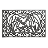 Vintage Rectangle Doormat in Dragonfly Design,...