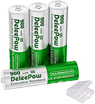 4-Pack Deleepow AAA Rechargeable Batteries