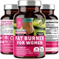 N1N Premium Fat Burner for Women [7 Potent Ingredients] All Natural Thermogenic Weight Loss Pills, Suppresses Appetite, Boosts Metabolism and Energy, Carb Blocker, Gluten Free and Non GMO, 60 Veg Caps